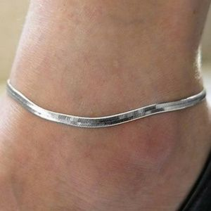 SILVER Fishtail Beach Anklet